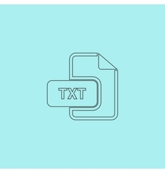 TXT text file extension icon vector image vector image