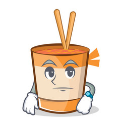 Waiting cup noodles character cartoon vector