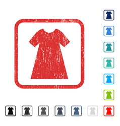 Woman dress icon rubber watermark vector
