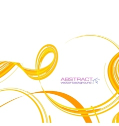 Yellow abstract ribbons background vector image vector image