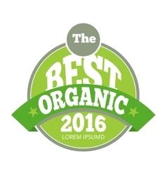 Green organic natural eco label vector image