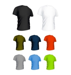 T-shirt on the white set vector