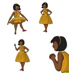 black teacher poses vector image