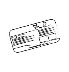Flight ticket isolated vector