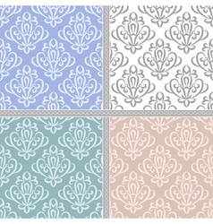 Seamless ethnic vintage pattern set vector