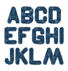 Sketched alphabet am vector
