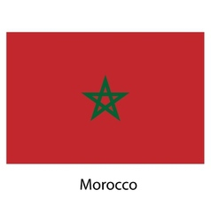 Flag of the country morocco vector