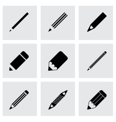 Pencil icon set vector