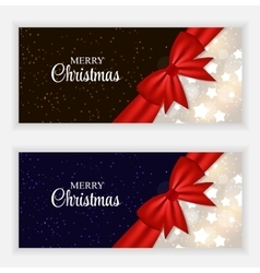 Christmas gift card set vector