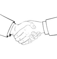 Close-up handshake Business people vector image