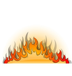 Flames background vector