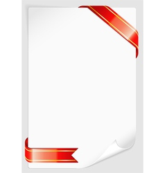 Sheet of white paper vector