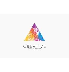 abstract trendy multicolored logo triangle design vector image