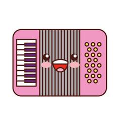 accordion musical instrument kawaii character vector image vector image