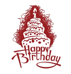 birthday cake image vector image vector image