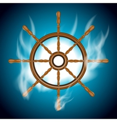 Boat wheel vector image
