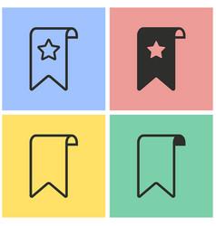 bookmark icon set vector image vector image