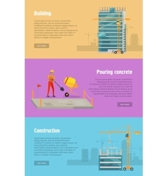 Building pouring concrete construction vector