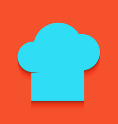 Chef cap sign whitish icon on brick wall vector