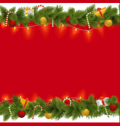 Christmas Background with Garland vector image