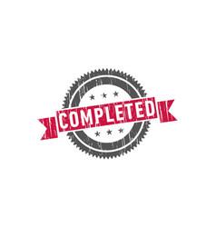 complete stamp sign seal logo vector image