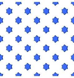 Convex star pattern cartoon style vector image vector image