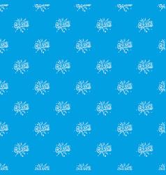 crash explosion pattern seamless blue vector image vector image
