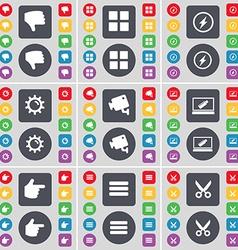 Dislike apps flash gear cctv laptop hand apps vector