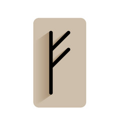 fehu runic alphabet and letters flat icon on vector image vector image