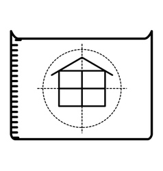 floor plan isolated icon design vector image vector image
