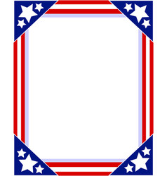 Frame photo with american symbols vector