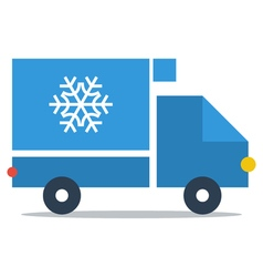 Fridge truck delivery icon vector