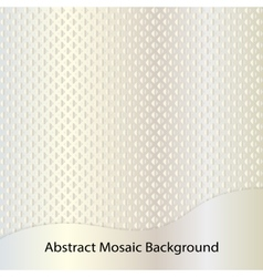 Golden abstract mosaic background vector image
