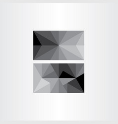 Grayscale abstract geometric triangle background vector