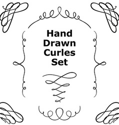 Hand drawn curles set vector