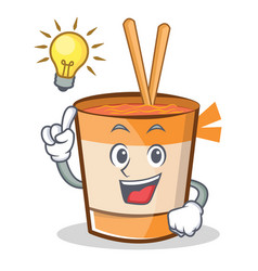 Have an idea cup noodles character cartoon vector