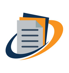 logo for document management vector image vector image