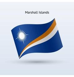 Marshall islands flag waving form vector
