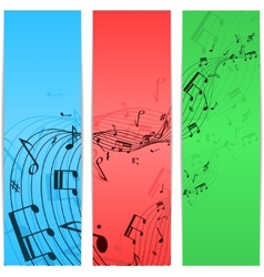 Music notes color vector