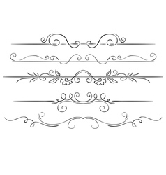 Ornate set of borders on a white background hand vector