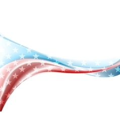 Presidents day abstract wavy usa colors background vector