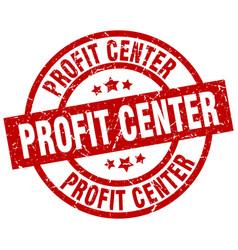 Profit center round red grunge stamp vector