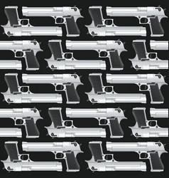 Seamless texture pistols vector