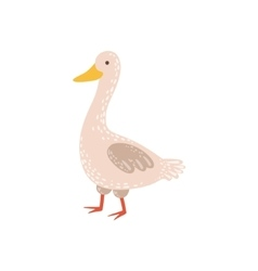 White goose walking vector
