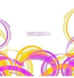 Yellow and pink abstract ribbons background vector image vector image
