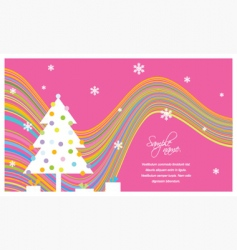 New Year's card vector image