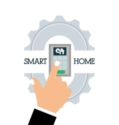 Smart home house control vector