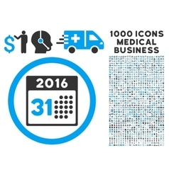 Last 2016 month day icon with 1000 medical vector