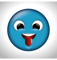 Playful emoticon tongue out icon vector