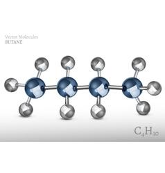 Butane molecule vector